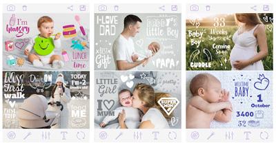 Pegatinas-de-embarazo-Baby-Pics